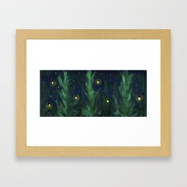 A night at home Framed Art Print