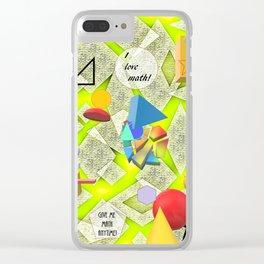 I Love Math Clear iPhone Case