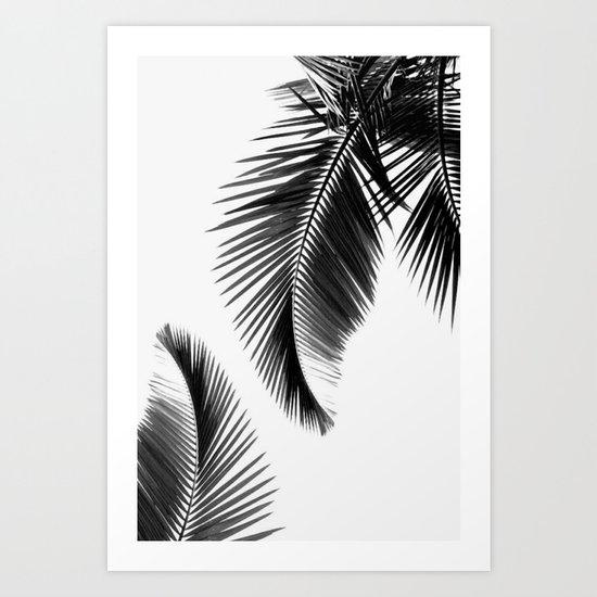 Black and white Leafs Art Print