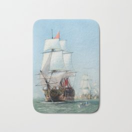 First Journey Of The HMS Victory Bath Mat