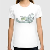 sloths T-shirts featuring Surfin' Sloths  by The Art of Shinn