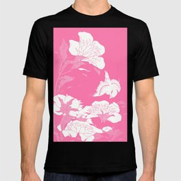 JaPanese Flowers. Pink T-shirt