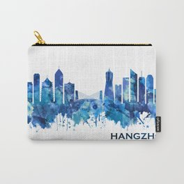 Hangzhou China Skyline Blue Carry-All Pouch