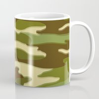 camo Mugs featuring CAMO by Bruce Stanfield