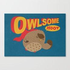 Owlsome Guardian Canvas Print