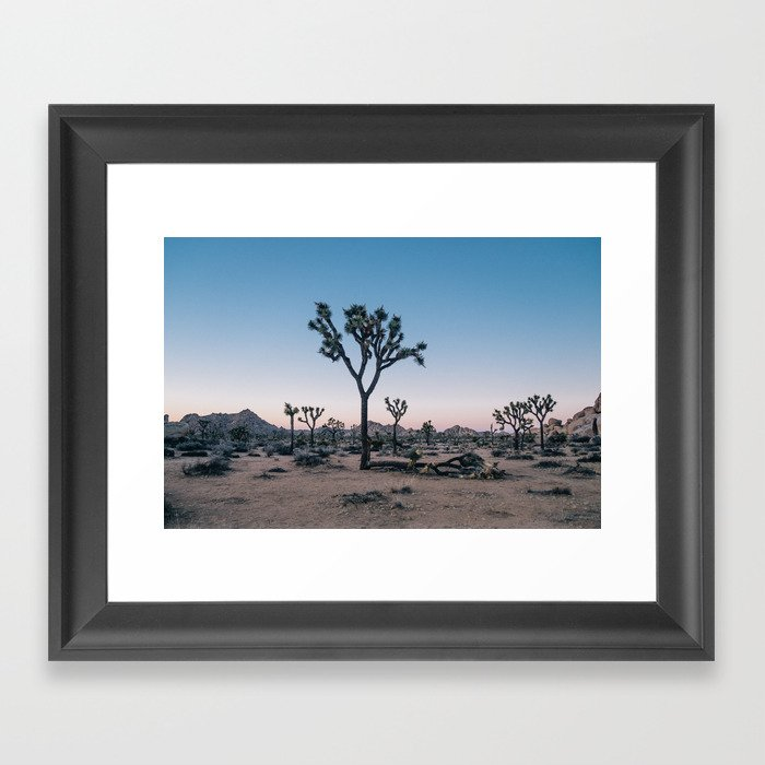 Joshua Tree at Sunset Gerahmter Kunstdruck