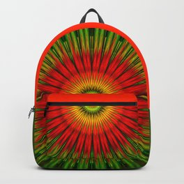 Abstract Fire flower Backpack