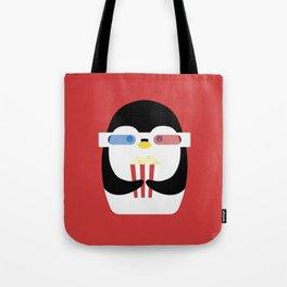 Penguin + Movie Time Tote Bag