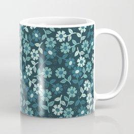 Denim Floral Coffee Mug