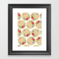 Vintage Saucers Framed Art Print