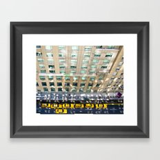 Above the Waldorf Framed Art Print