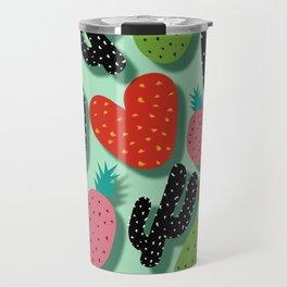 Cactus Love and Pineapples Travel Mug