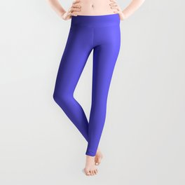 Solid Light Blue Lotus Color Leggings