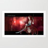 Kitsune the Red Art Print