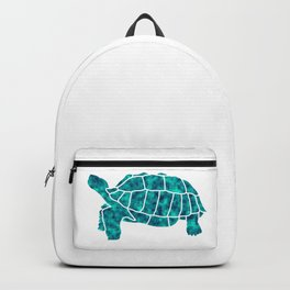 Sulcata Tortoise Silhouette (turquoise) Backpack