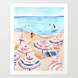 Beach Day II Art Print
