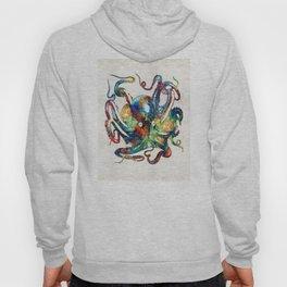 Colorful Octopus Art by Sharon Cummings Hoody