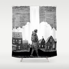 Missiles Shower Curtain