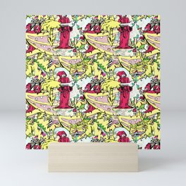 Alchemical Dragon Rot - Vector Repeat Pattern Mini Art Print