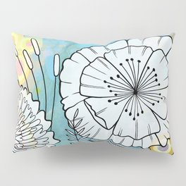 Petunia and Aster Pillow Sham