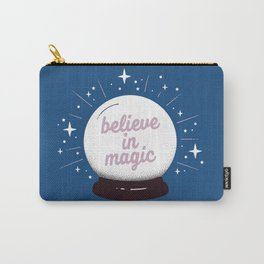 "Crystal ball ""believe in magic"" Carry-All Pouch"