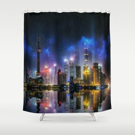 Shanghai Skyline Shower Curtain