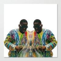 biggie smalls Canvas Prints featuring Biggie Smalls by IFEELFREEDXM