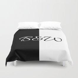 Minimalistic black and white B&W Duvet Cover