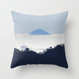 Island in the clouds Throw Pillow
