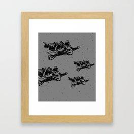 Bearskin Girl (lighter shade of grey) Framed Art Print