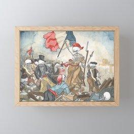Liberty leading the people - Delacroix - Skeleton version Framed Mini Art Print