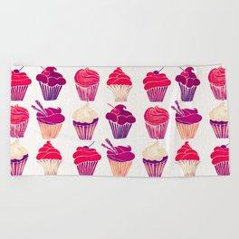 Cupcakes – Fuchsia Palette Beach Towel