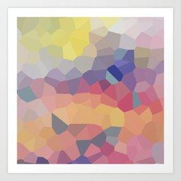 Pastel Geometric Moon Rise Art Print