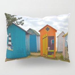 Beach huts Pillow Sham