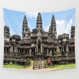 Angkor Wat East Entrance, Cambodia Wall Tapestry