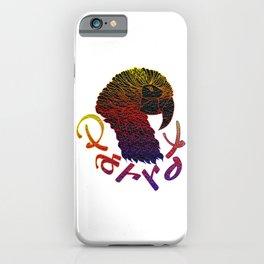 Cubism Parrot V Multicolored iPhone Case