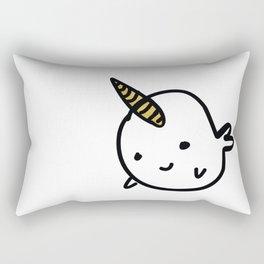 BIG GOLD BUDDY NARWHAL Rectangular Pillow