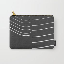 White Lines Minimal Carry-All Pouch