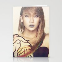 2ne1 Stationery Cards featuring 2NE1 CL by Margot Park