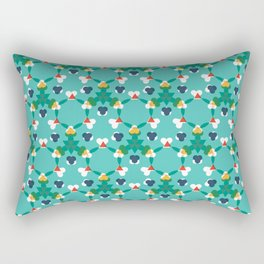 Kaleidescope aqua Rectangular Pillow