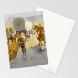 """Frederic Remington Western Art """"The Emigrants"""" Stationery Cards"""