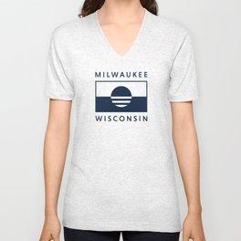 Milwaukee Wisconsin - Navy - People's Flag of Milwaukee Unisex V-Neck