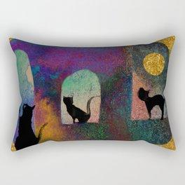 Cats and moon Rectangular Pillow