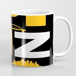 Pittsburgh Steel City Yinzer Funny Yinz 412 Pennsylvania Skyline Word Art Coffee Mug