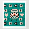 Owl and heart pattern by cocodes