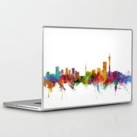 south africa Laptop & iPad Skins featuring Johannesburg South Africa Skyline by artPause
