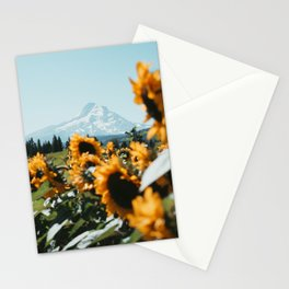 Mt. Hood Sunflower Field Stationery Cards