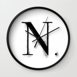 N. - Distressed Initial Wall Clock