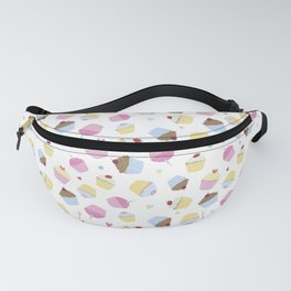 Sweet White Cupcakes Fanny Pack