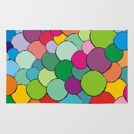 Colorful rainbow balls Rug